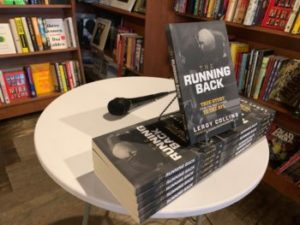 Leroy Collins books set up in a library for a book signing