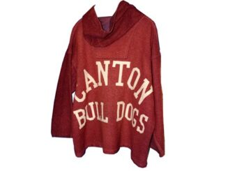 Sideline jacket of Canton Bulldogs from the 1920s
