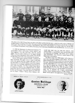 Letterhead of the Canton Bulldogs from 1922 with Ralph Hay and Guy Chamberlin on the cover