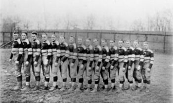 Canton Bulldogs team photo at Lakeside Park