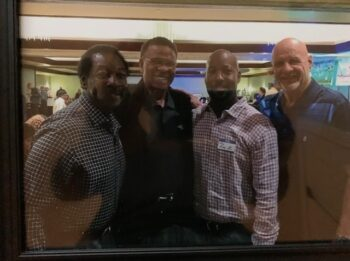 Ken Riley, Kenny Houston, and Paul Krause together totalling 195 NFL interceptions