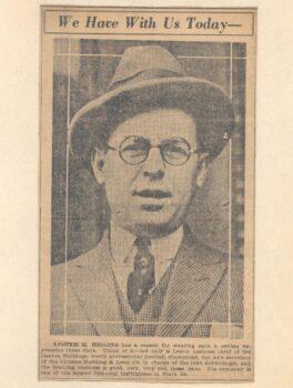 Lester Higgins the treasurer for the early Canton Bulldogs team