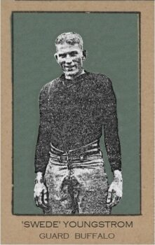 Swede Youngstrom of Buffalo All-Americans card from 1921