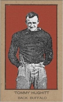 Tommy Hughitt from Buffalo All-Americans card from 1921