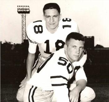 Bill Curry with quarterback Billy Lothridge