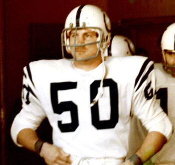 Bill Curry pre-game at Super Bowl V