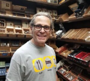 Jay Abramson with his cigars