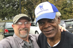 Freinds Jackie Wallace and Ted Jackson reunite