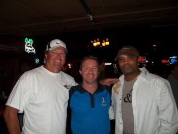 Kyle Smith of the USFL project with Jeff Gossett and Dee Thomas